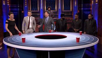 katie holmes, ryan reynolds, jimmy fallon play musical beers on 'the tonight show' (video)