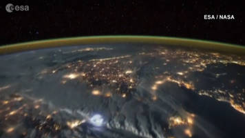 WATCH: Lightning strikes earth in incredible video shot from International Space Station