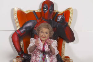 Betty White Reviews 'Deadpool': Ryan Reynolds Is 'So F—ing Handsome' (Video)