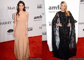 Emily Ratajkowski and Heidi Klum Wow at amfAR New York Gala