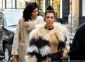 Hot Mom! Kourtney Kardashian Flashes Bra During Makeup-Free Outing With Kylie Jenner