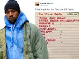 kanye west reveals the life of pablo 'track list' and meaning behind new album title