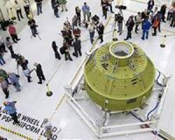 orion crew module processing begins for first mission
