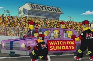 'The Simpsons' are headed to Daytona for the 500