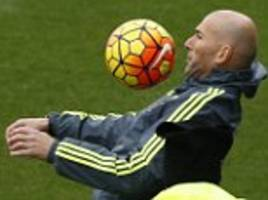 zinedine zidane rolls back the years as real madrid train ahead of athletic bilbao clash