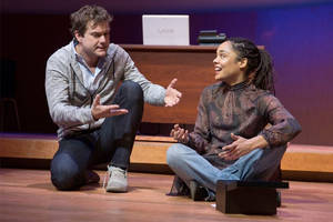 'smart people' theater review: joshua jackson, tessa thomson gets caught in racial crossfire