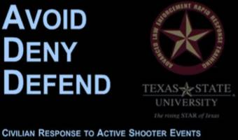 police to hold a course on how to survive an active shooting