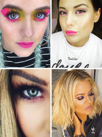 Valentine's Day make-up: Khloe Kardashian and Lottie Tomlinson go all out with the eyeshadow