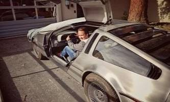 google apparently has a delorean on its campus. should we be afraid?