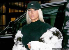 Kim Kardashian Covers Her Post-Baby Body With Another Cruella DeVille-Inspired Coat