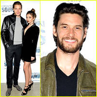sarah hyland & dominic sherwood couple up at emporio armani sounds' grammy week party!