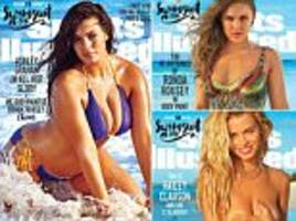 sports illustrated swimsuit issue 2016 reveal ronda rousey and ashley graham as cover stars