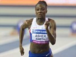 dina asher-smith slips to sixth-placed finish in 60m at glasgow indoor grand prix