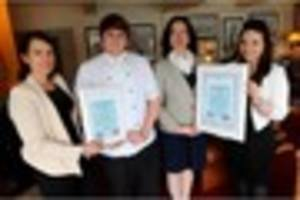 staff at the cary arms in babbacombe win holidays for the annual...