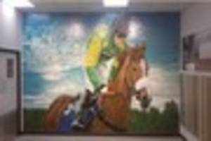 cheltenham legend kauto star immortalised in tiles