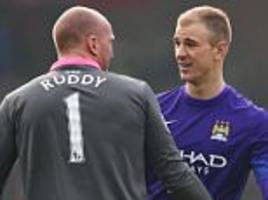 myself and john ruddy could have had the afternoon off, jokes manchester city keeper joe hart after 'disappointing' norwich draw