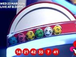 national lottery winners who matched five numbers won just £15 each