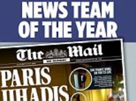 mail on sunday sweeps the board at the press oscars wining newspaper of the year