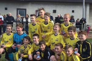 pitfour fc 2003s were crowned the winners of the diamond jubilee cup