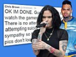 chris brown slams kehlani parrish with vicious tweet after singer was hospitalized