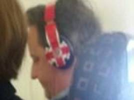 is dave trying just a little too hard to be cool? pm spotted in a pair of £300 beats by dre headphones usually seen on the likes of cara delevigne, harry styles and rita ora