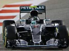 nico rosberg wins bahrain grand prix as mercedes team-mate lewis hamilton finishes third in sakhir