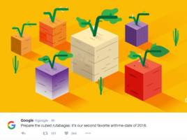 why google tweeted about 'cubed rutabagas' (goog, googl)