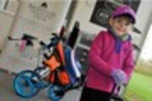 stretton youngster olivia is making great swings towards golfing...