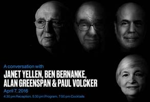 in historic first, four fed chairs sit together to share their philosophy - live webcast