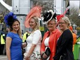 grand national 2016's aintree ladies day sees racegoers put on a stylish display