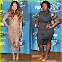 jessica sanchez & candice glover get fierce at 'idol' finale