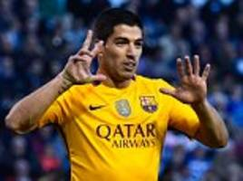 luis suarez scored four and set up three as barcelona beat deportivo... but it comes as no surprise from the man outperforming lionel messi and cristiano ronaldo