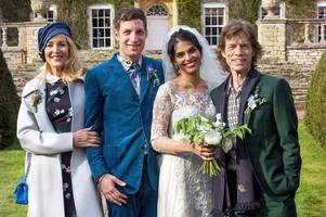 jerry hall and ex-husband mick jagger reunite at son's wedding celebration after model's surprise marriage to rupert murdoch