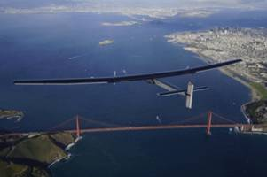 Solar-powered plane completes flight across the Pacific