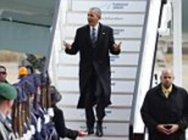 President Obama arrives in Germany to fierce protests over his visit to promote US-Europe trade deal