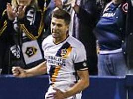 steven gerrard scores and misses penalty as los angeles galaxy beat real salt lake in major league soccer