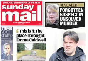 sunday mail wins scoop of the year for emma caldwell investigation revelations