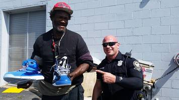 Cop Helps Homeless Man; Shaq, Dikembe and Hawks Step Up
