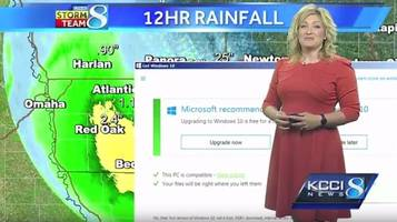 Windows 10 upgrade nag screen interrupts live weather broadcast