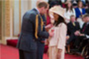 prince william presents nursery owner with obe at buckingham...