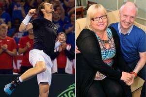 kilmaurs tennis fan suffered a brain haemorrhage just moments before andy murray came onto court in glasgow