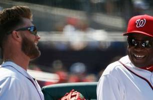 Dusty Baker says pitchers who challenge Bryce Harper are 'young fools'
