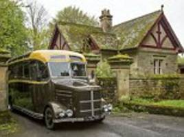 you wait ages for a bus, then this comes along: vintage bedford transformed into luxury motor home with kitchen and shower... and it can be yours for £120,000