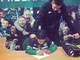amir khan shows sporting talent runs in his family as he reveals young nephew adam has signed for scottish side hibernian