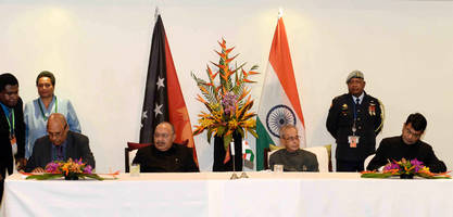 India, Papua New Guinea sign several agreements