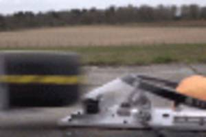 watch a wheel hit red bull's aeroscreen cockpit at 140 mph