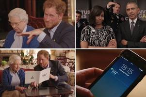 Watch moment The QUEEN trolls President Obama in brilliant new video for Invictus Games