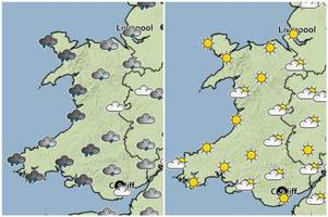 Bank Holiday weather forecast for Wales: Met Office forecasts sunny spells and scattered wintry showers