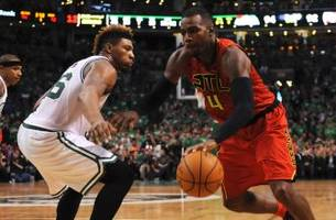 hawks overwhelm celtics, move on to face cavs in second round