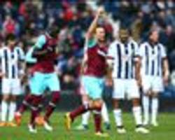 west brom 0-3 west ham: noble shines to keep champions league push alive